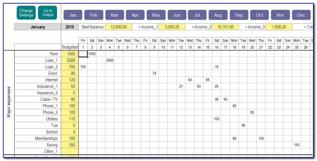 Monthly Expense Tracker Excel Template