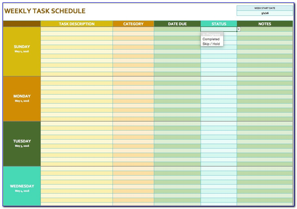 Monthly Lesson Plan Calendar Template