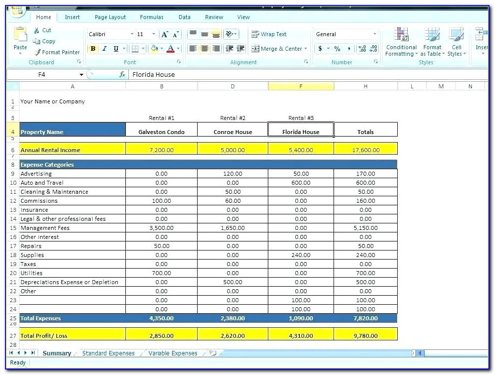 Monthly Office Expense Sheet Excel Template