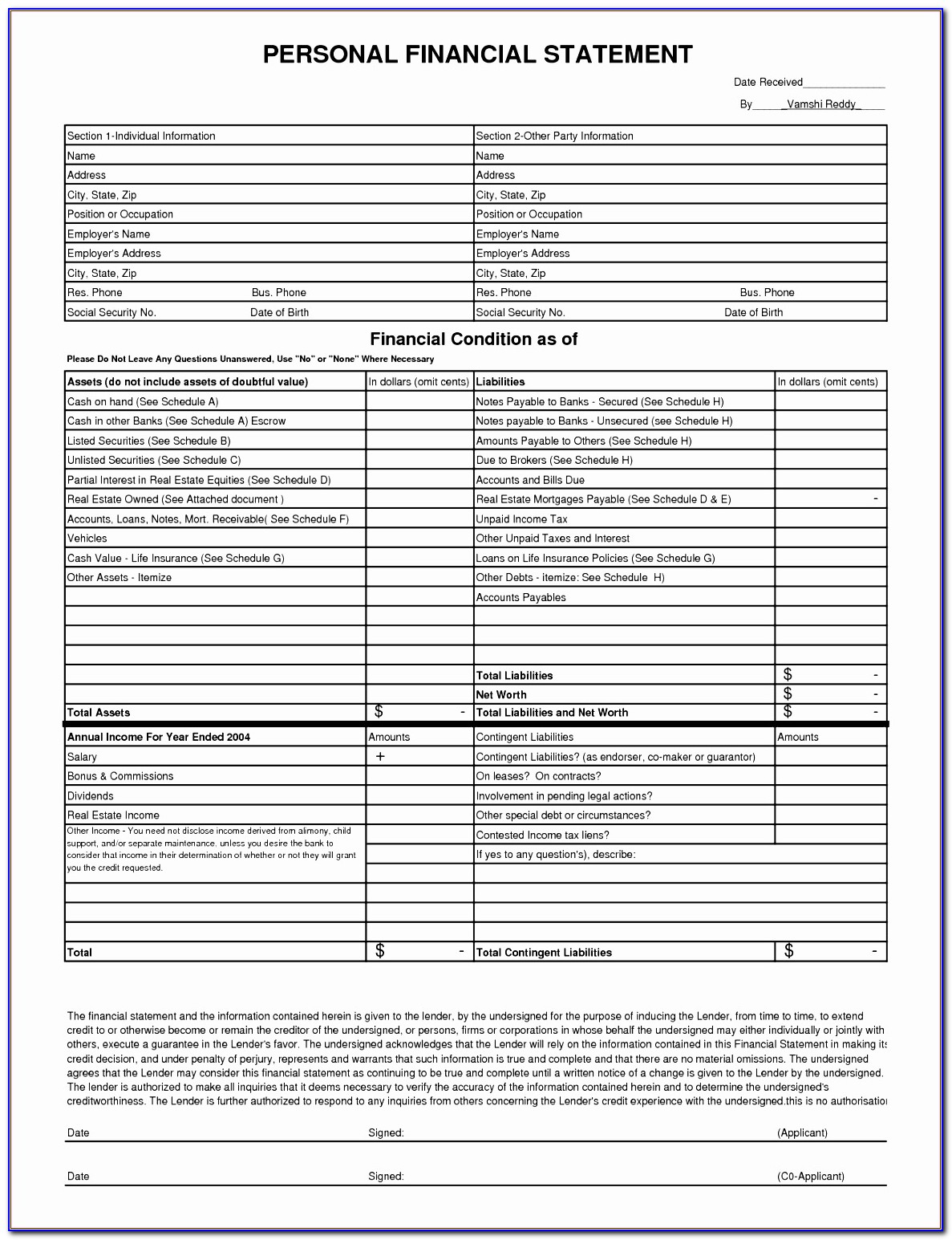 Financial Statement Template For Non Profit Organization ...