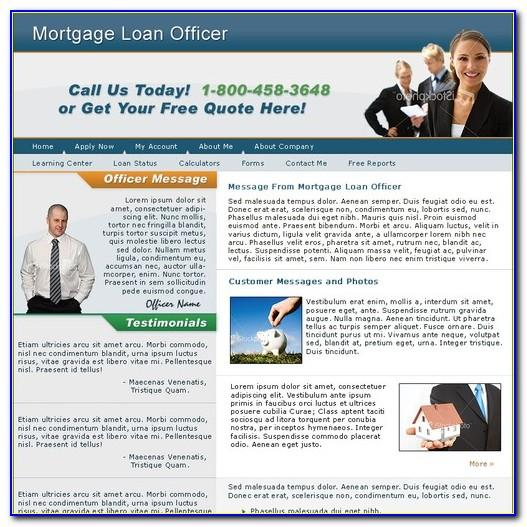 Mortgage Loan Officer Website Templates