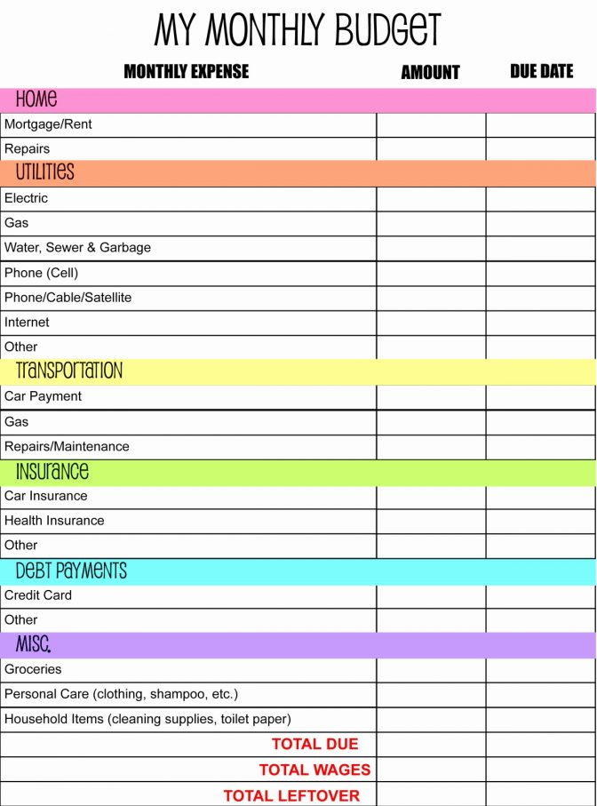 Moving Expenses Template