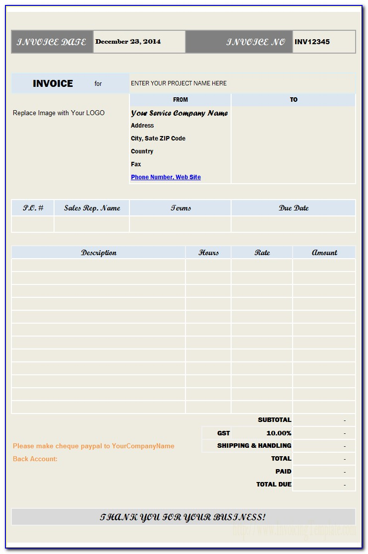 Moving Invoice Forms