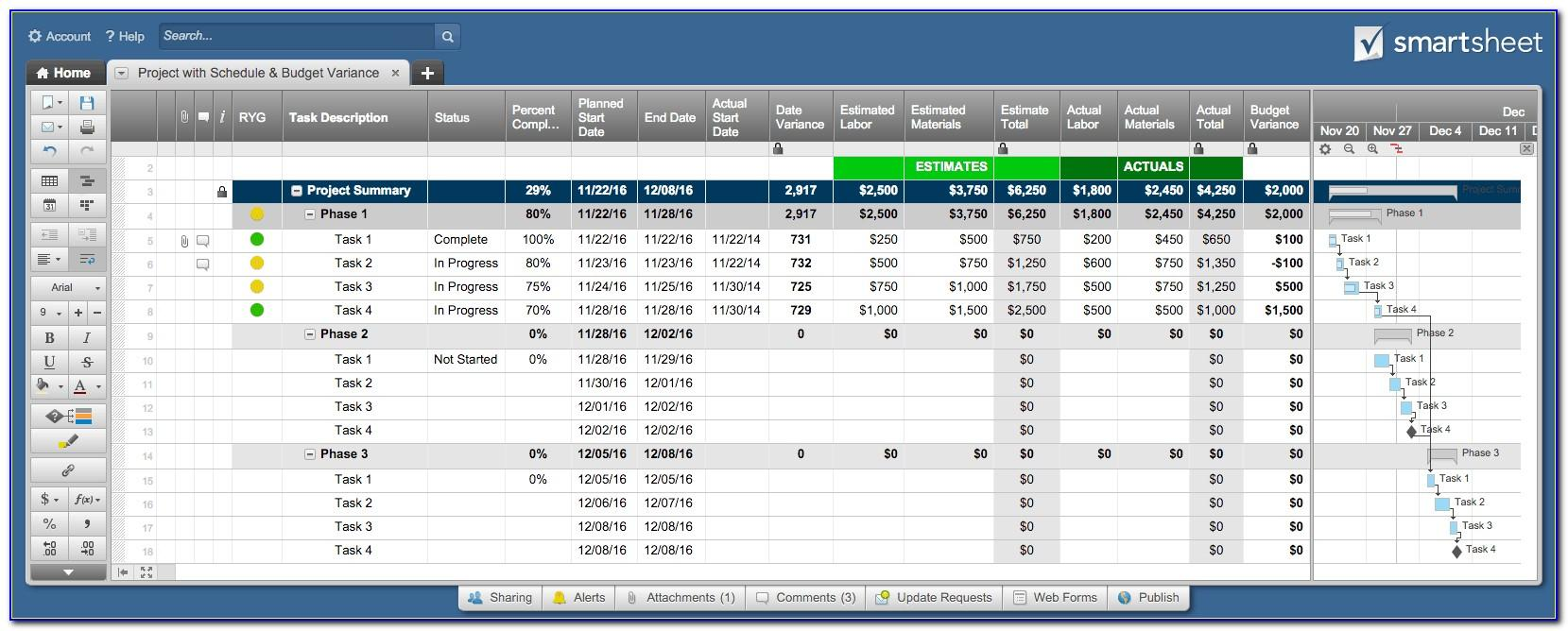 Ms Excel Project Tracking Template