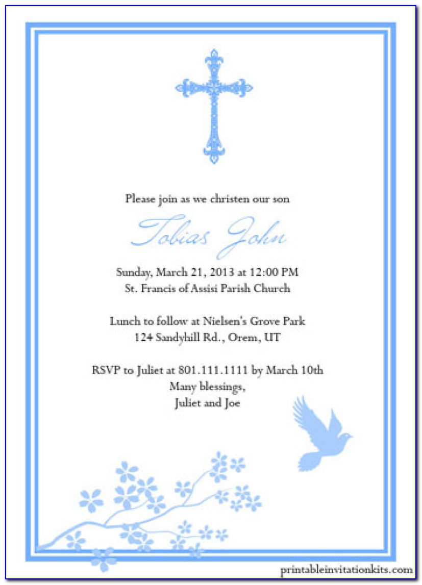 Baptism Invitations Templates Free Download | Daughter & Son