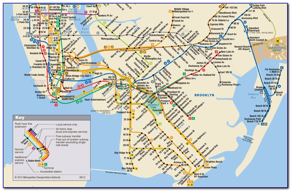 Mta Map New York Subway
