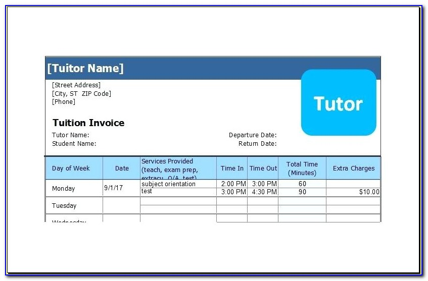 Musical Performance Invoice Template