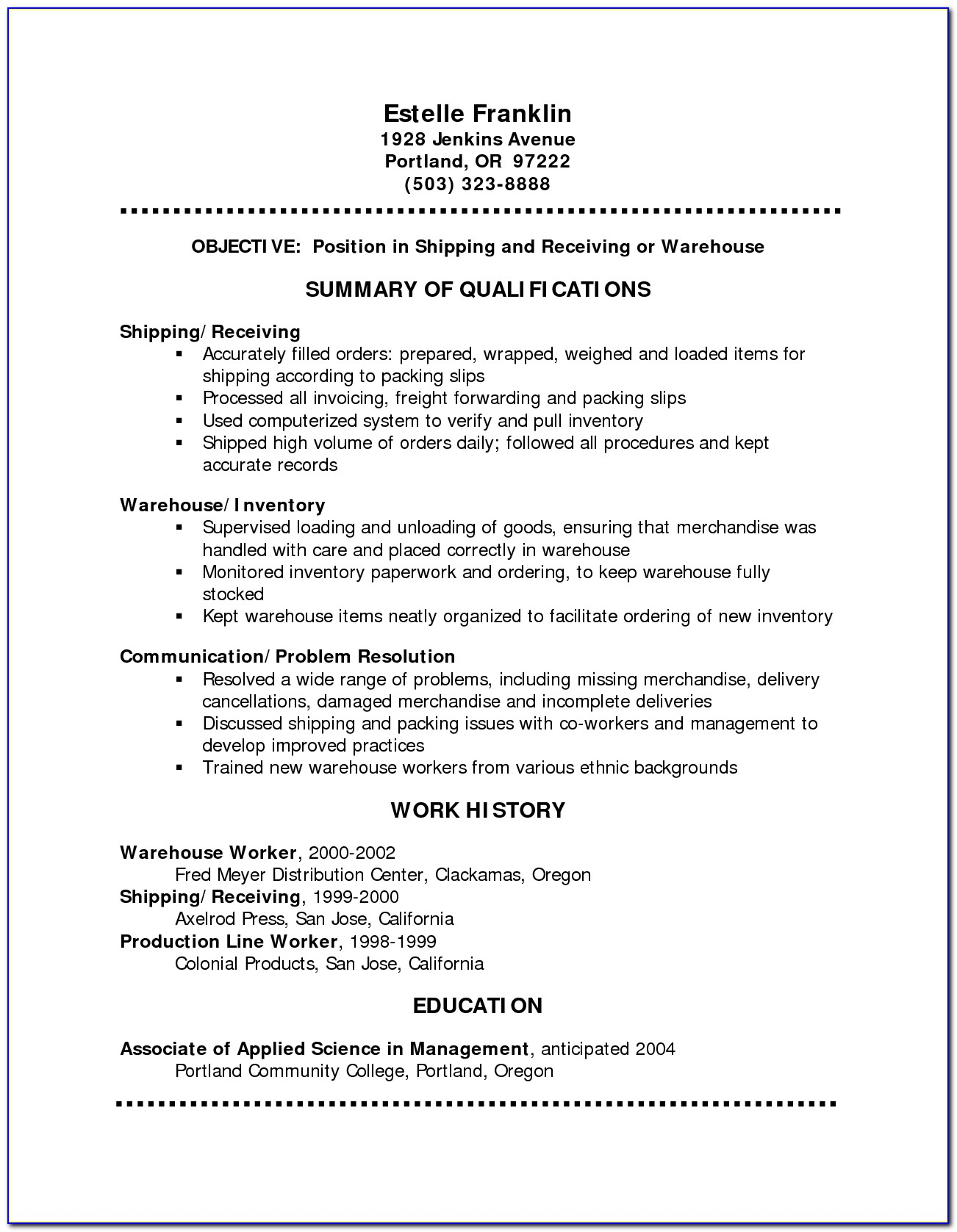 My First Job Resume Examples Vincegray2014