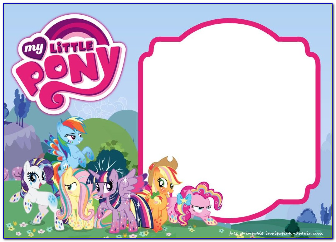 My Little Pony Birthday Invitation Templates