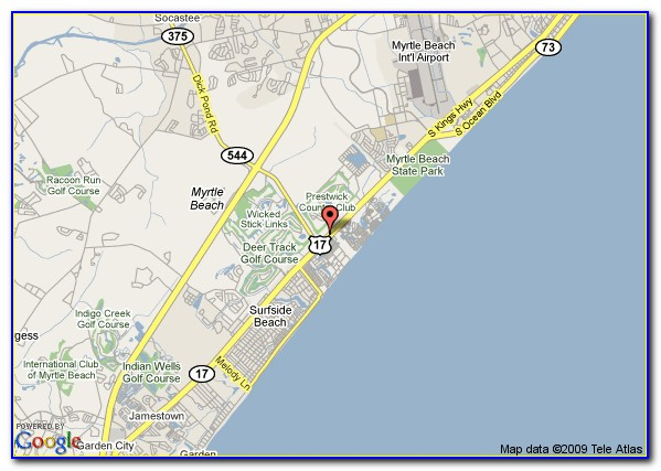 Myrtle Beach Sc Hotels Map