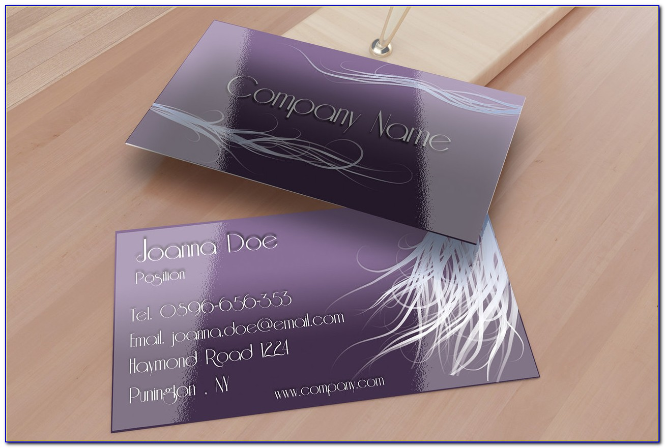Nail Salon Business Card Template Free