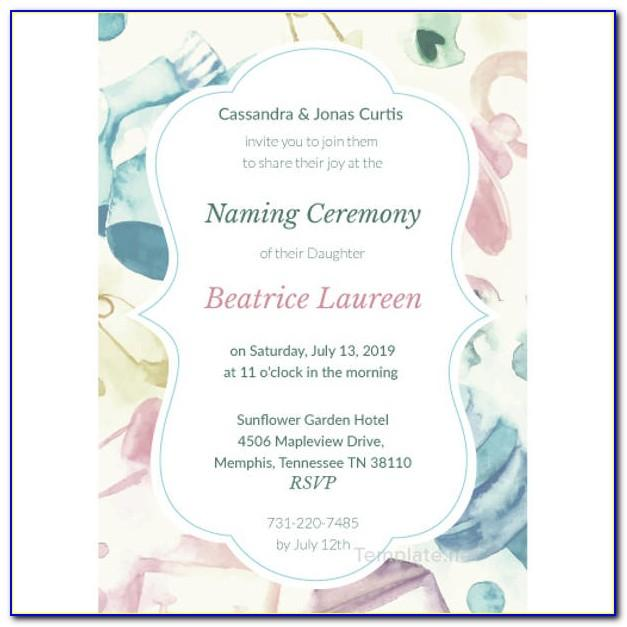 Naming Ceremony Invitation Video Templates Free Download
