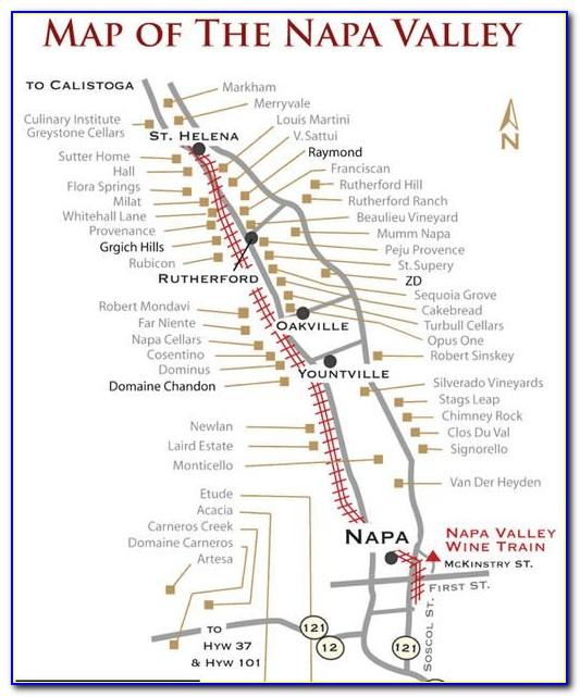 Napa Valley Vintners 3d Map