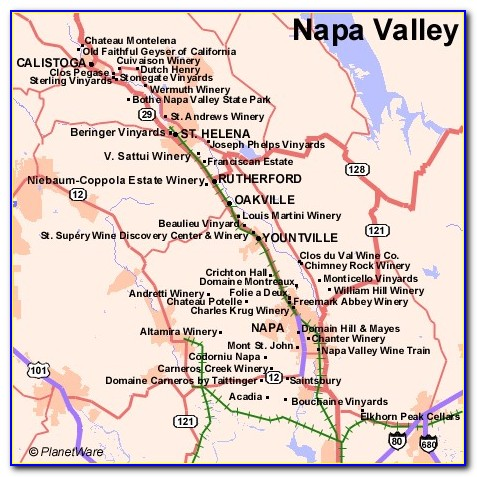 Napa Valley Winery Map Pdf