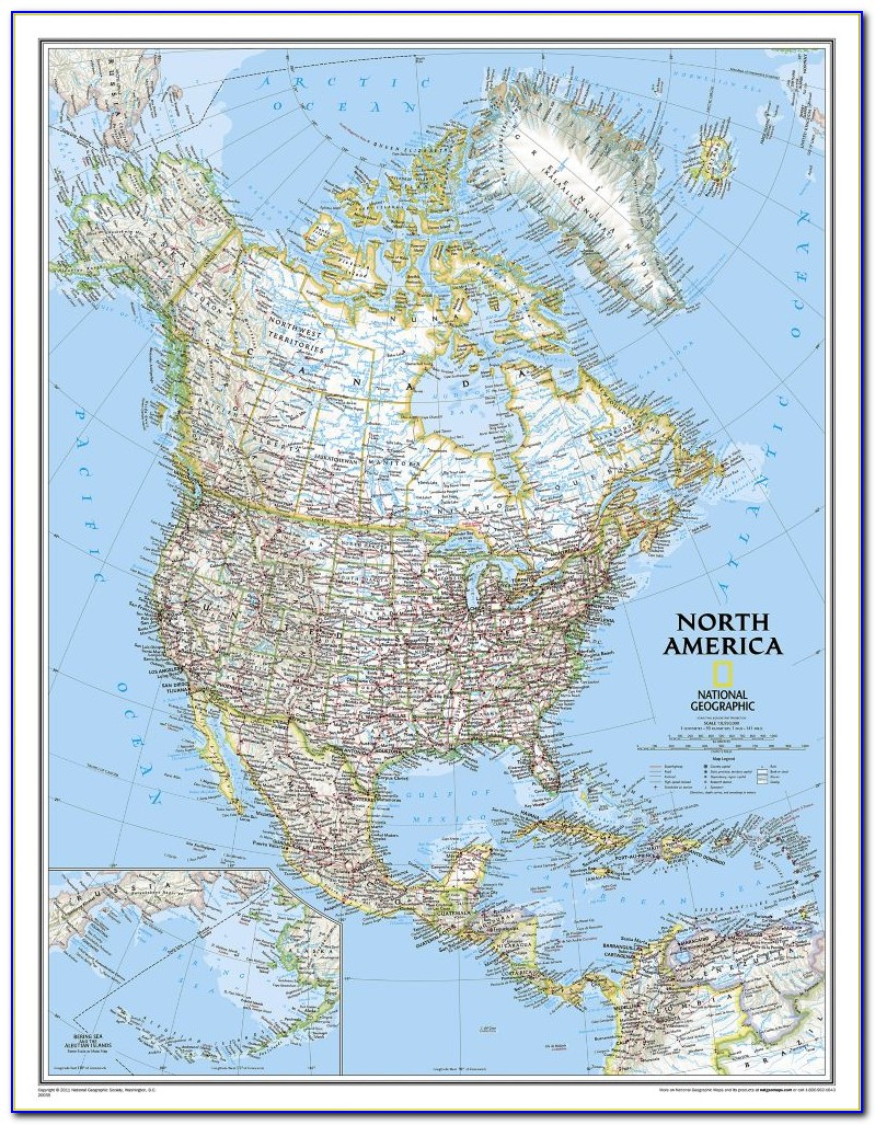 National Geographic 92 X64 Classic World Map Mural