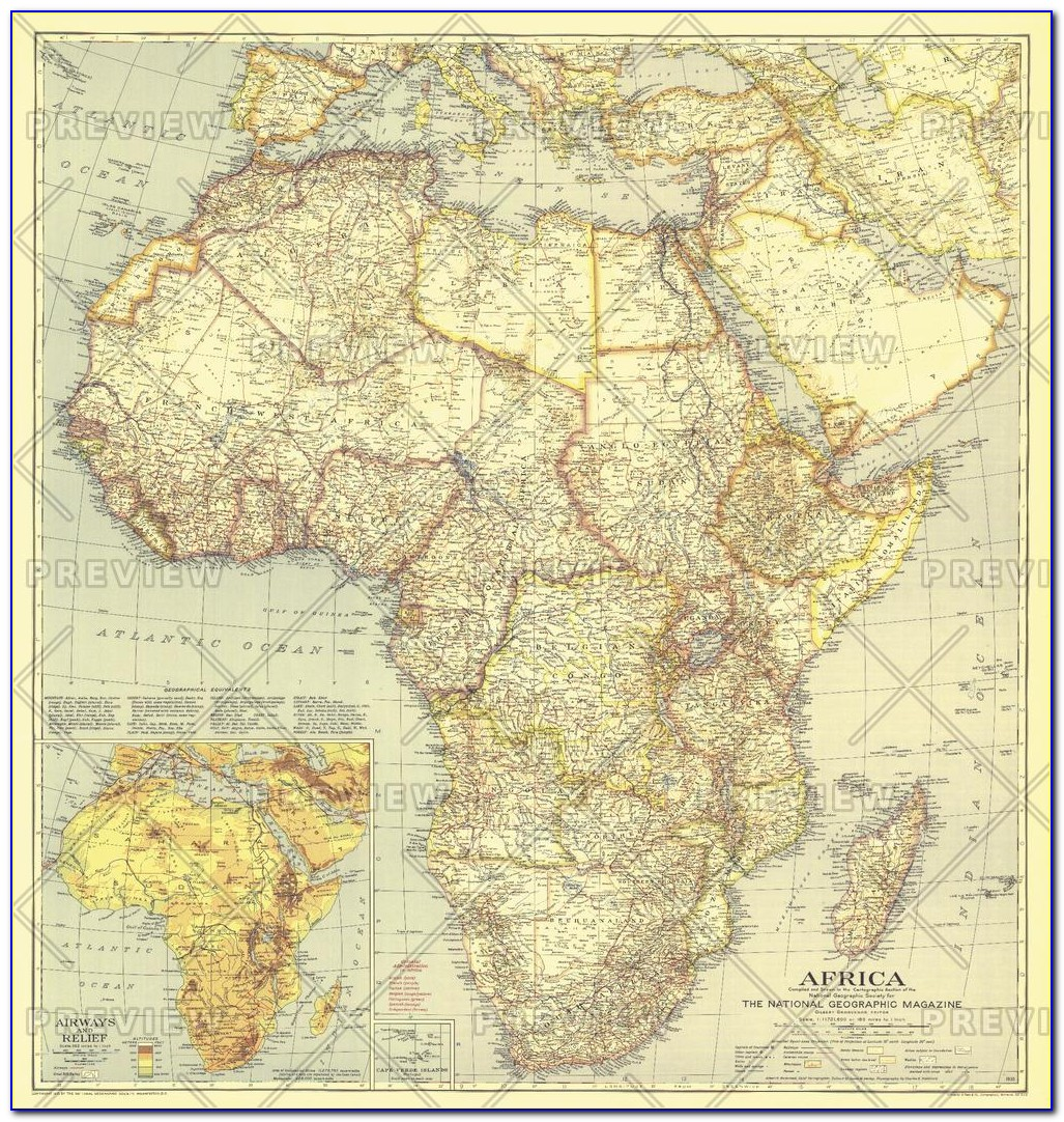 National Geographic Education Map Of Africa