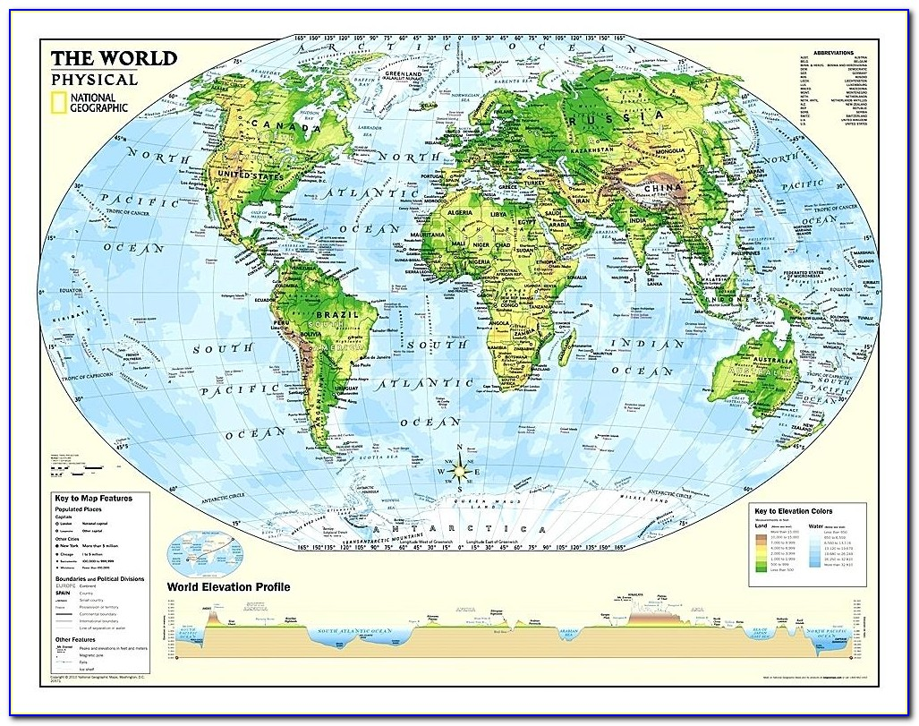 National Geographic Executive World Map Wall Mural