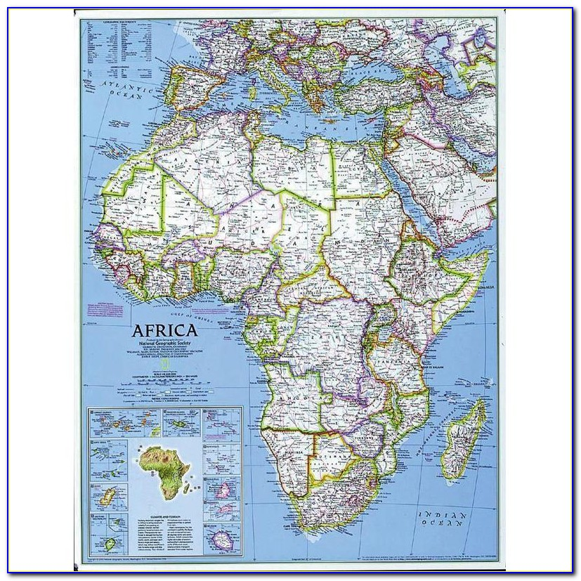National Geographic Map Of South Africa
