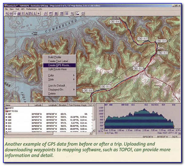 National Geographic Topo Outdoor Recreation Mapping Software