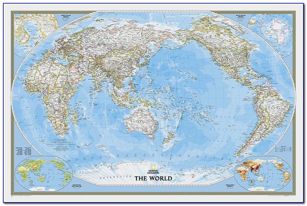 National Geographic Wall Map Of Australia