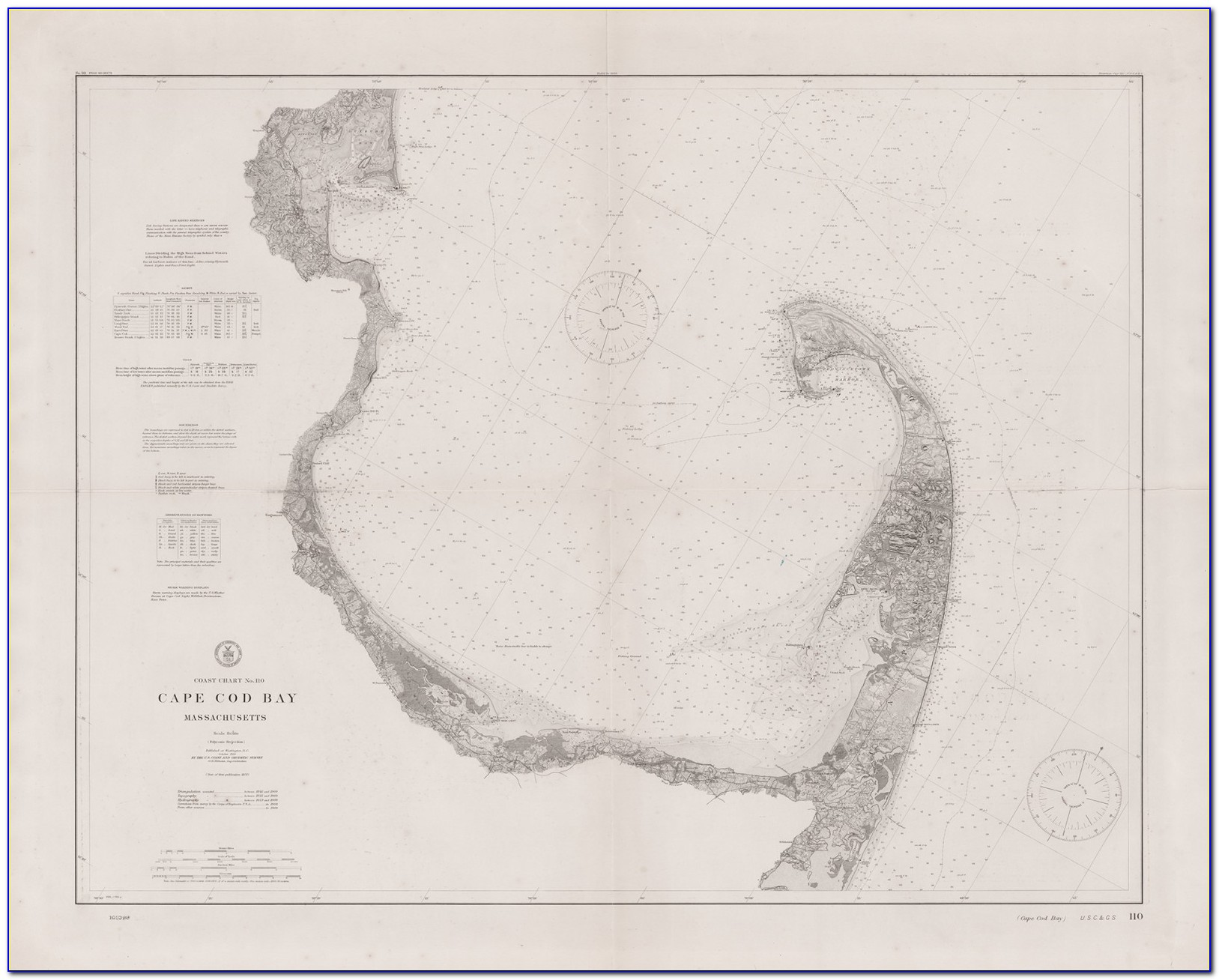 Nautical Chart Of Cape Cod Bay