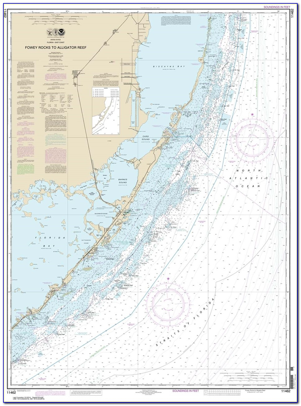 Nautical Map Of Florida Bay