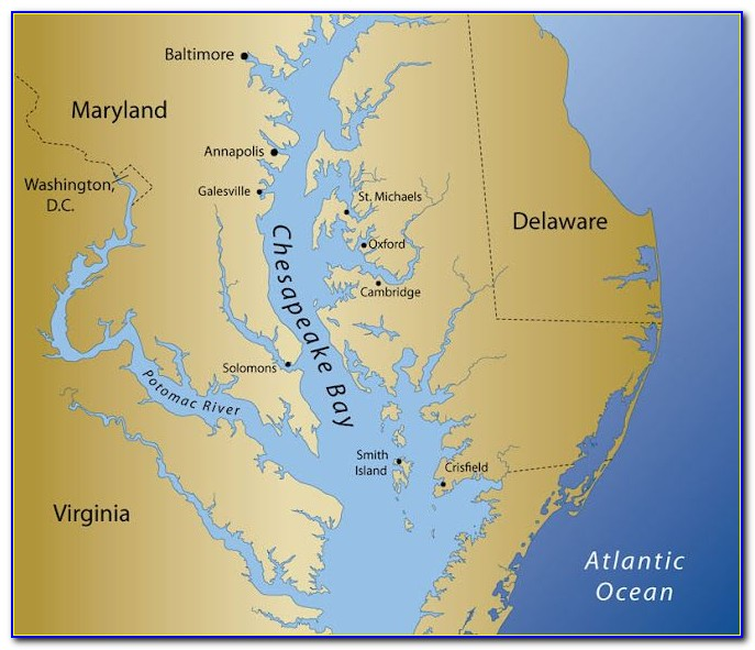 Nautical Maps Of Chesapeake Bay