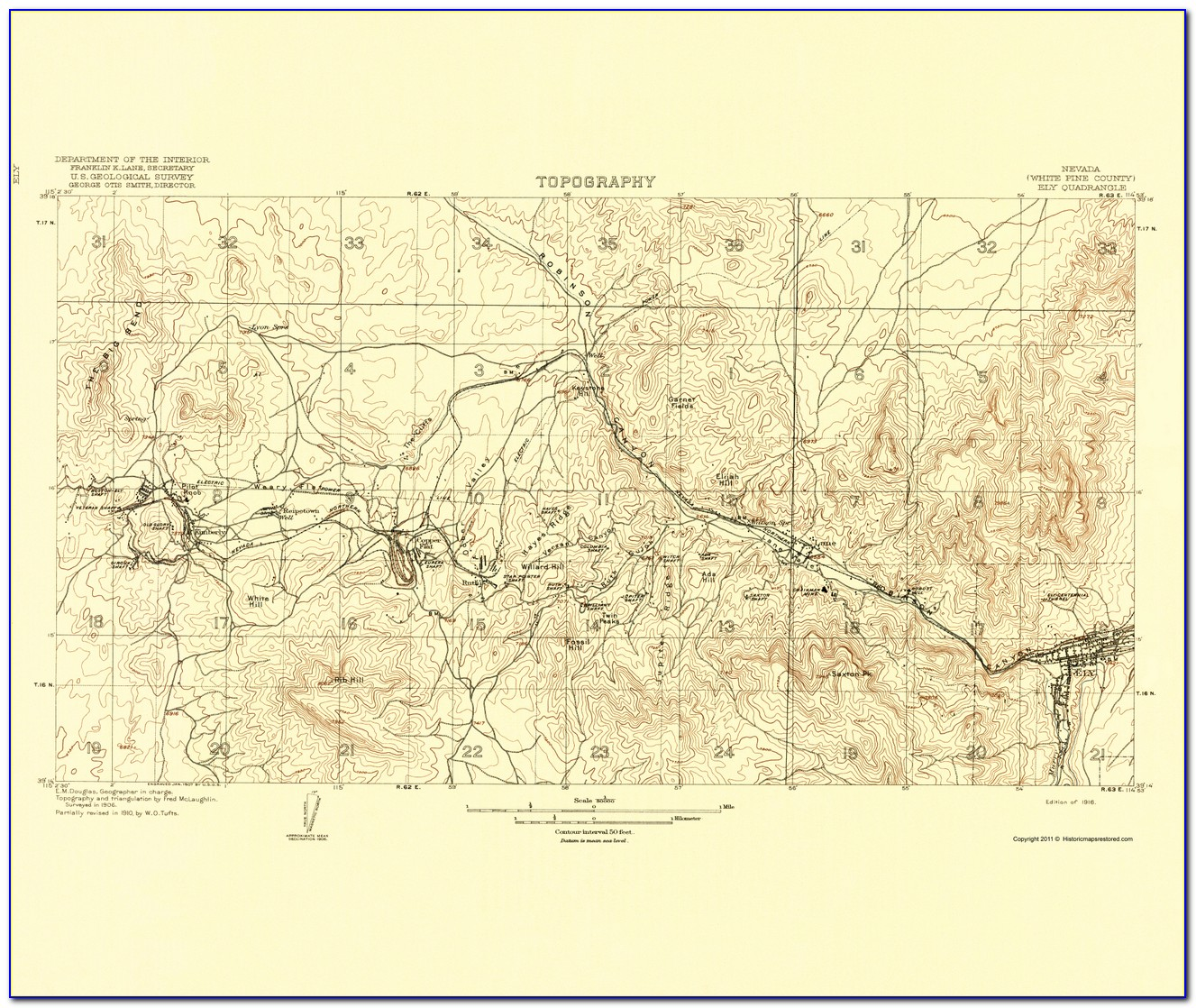 Nevada County Topo Map