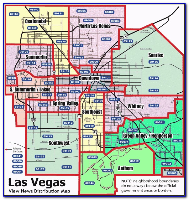 New Homes Las Vegas Map