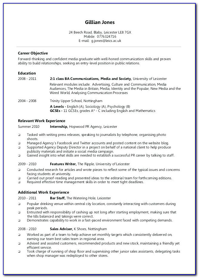 New Resume Format For Freshers Download