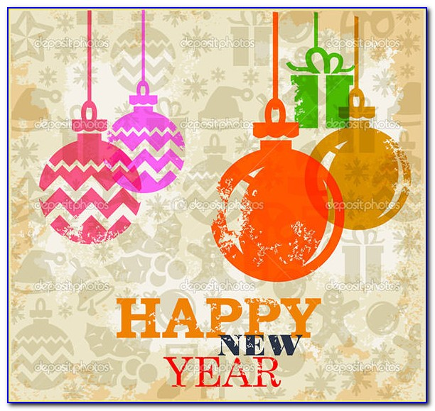 New Year Greeting Card Templates Free Download