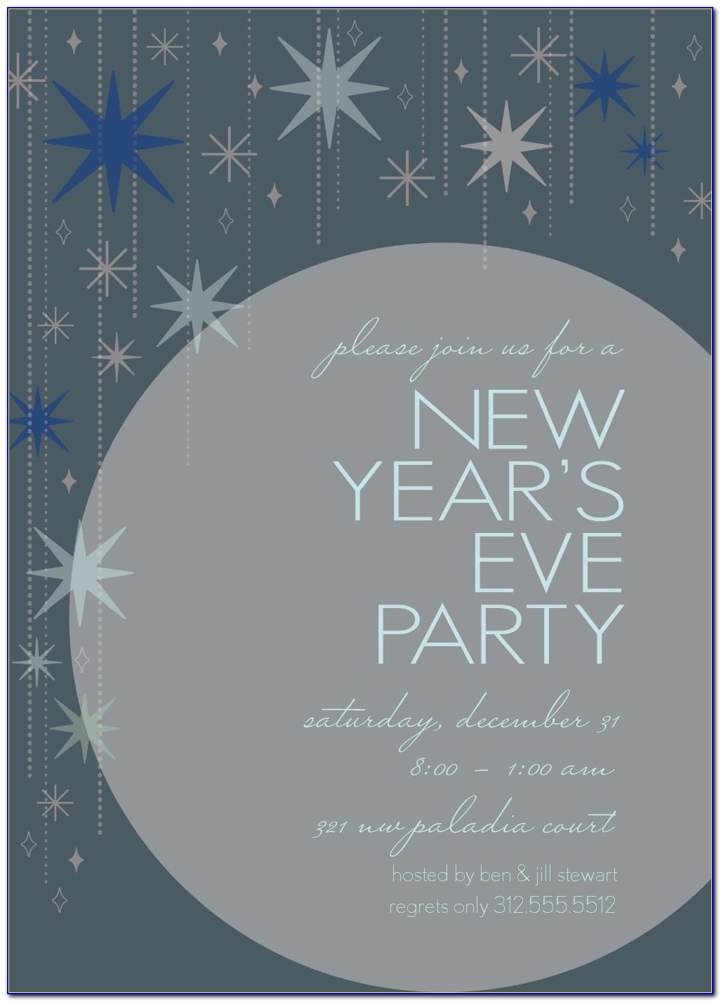 New Year Invitation Template Free Download