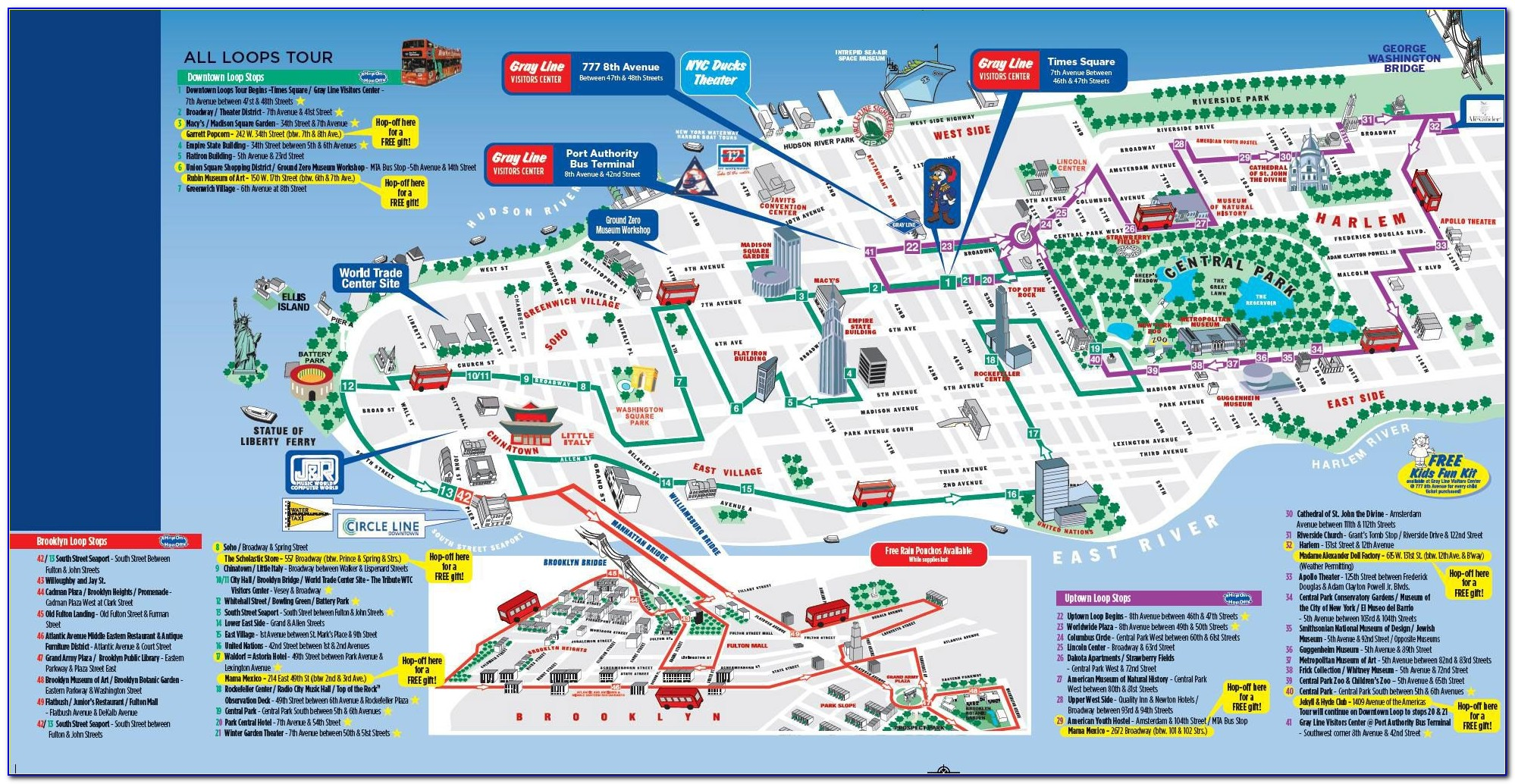 New York Tourist Attractions Map Pdf