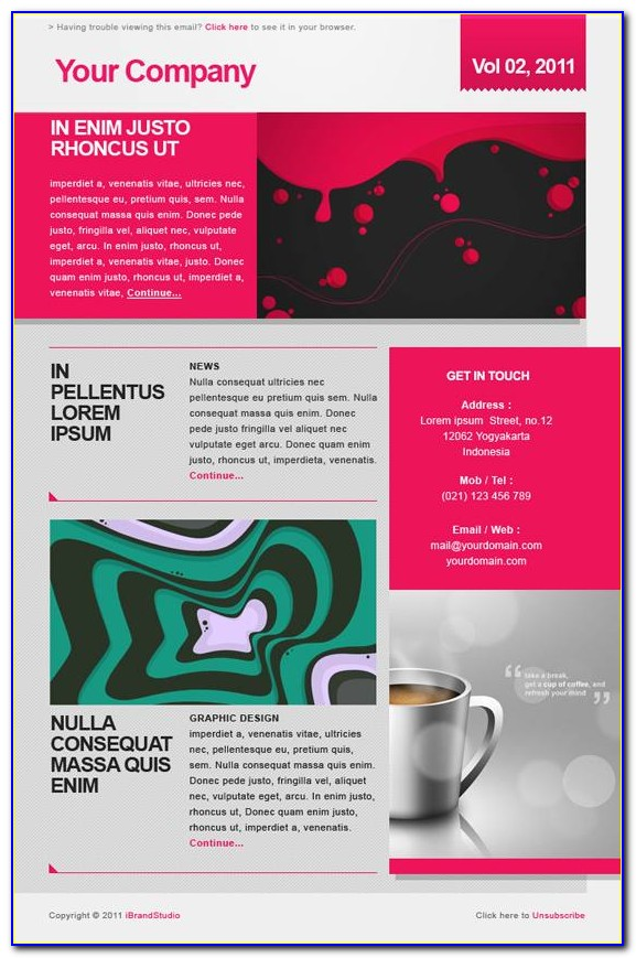 Newsletter Templates Psd Free Download