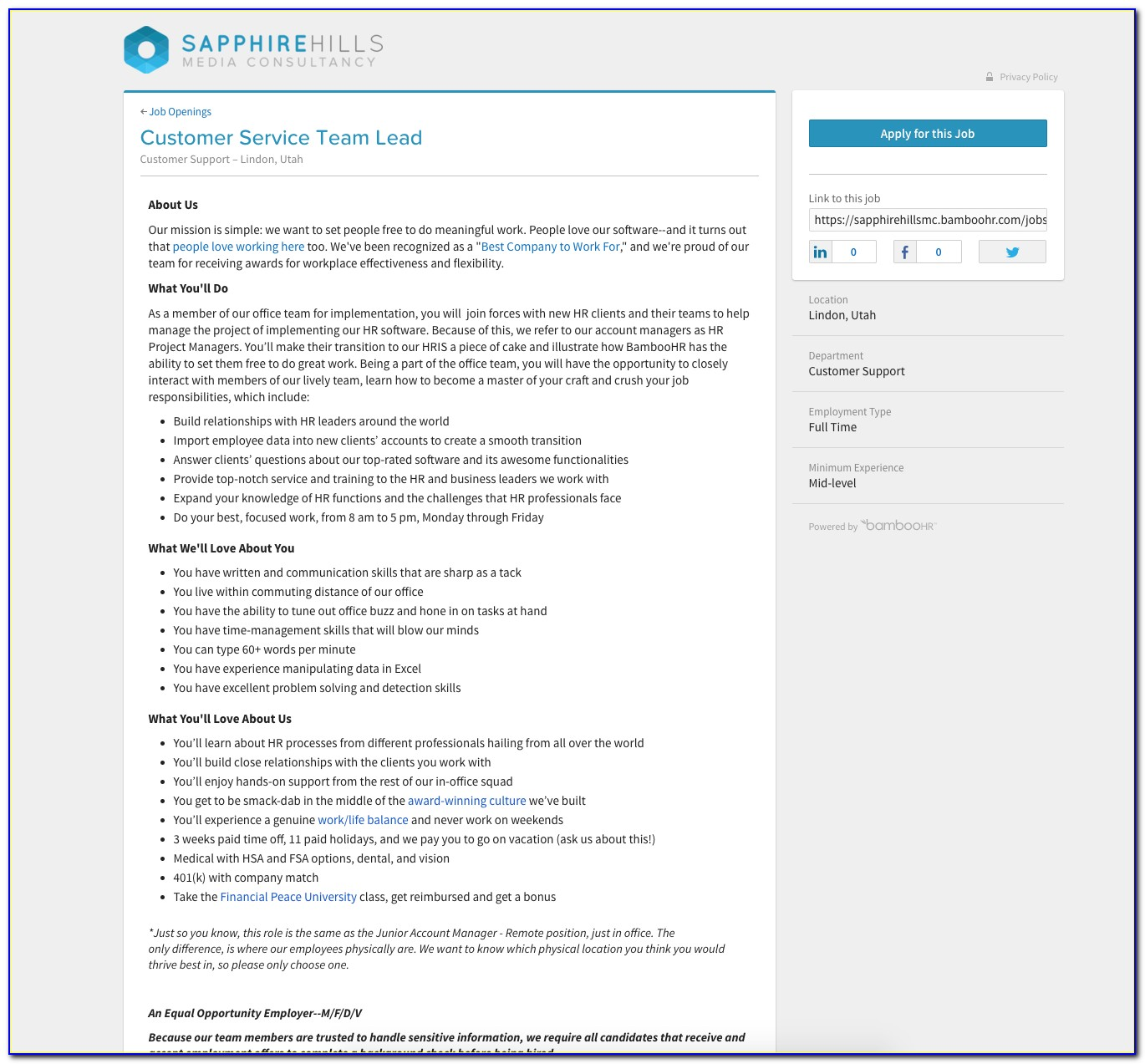 Applicant Tracking Software (ats) Hiring System   Bamboohr In Job Applicant Tracking Spreadsheet