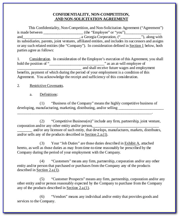 Non Solicitation Agreement Template Uk