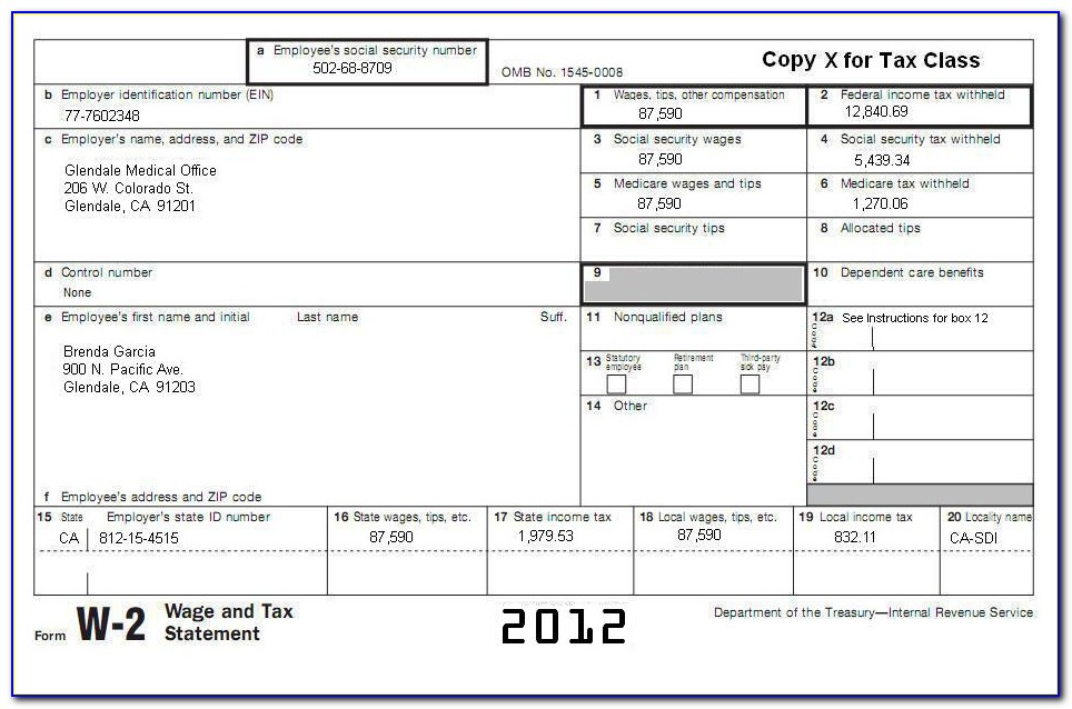 Non Ssa 1099 Form California