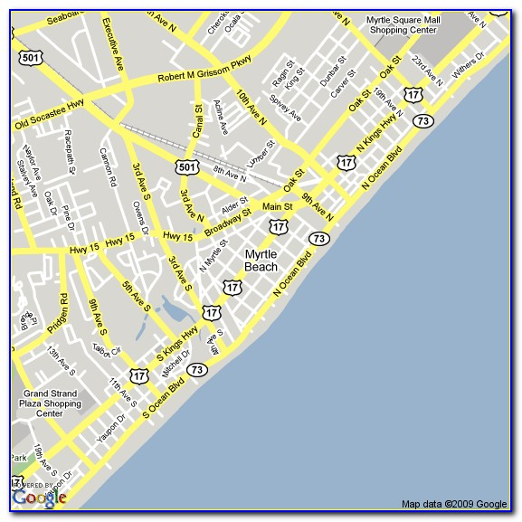 North Myrtle Beach Hotels Map