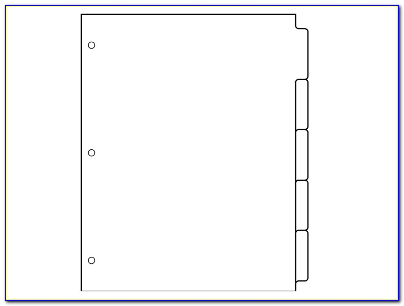 Notebook Divider Tabs Template
