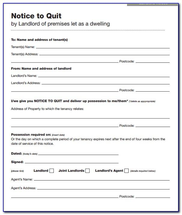 Notice To Vacate Texas Free Template