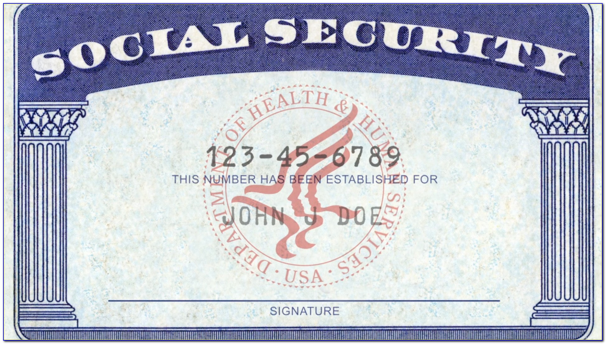 Novelty Social Security Card Template Download