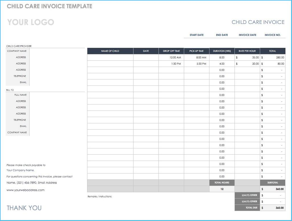Numbers Invoice Template Download