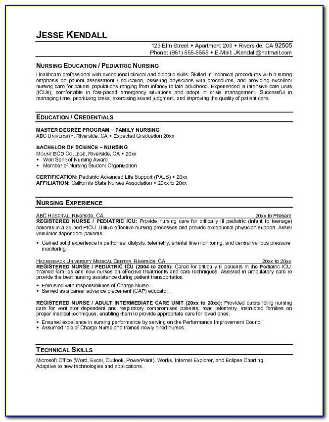 Nurse Practitioner Resume Builder