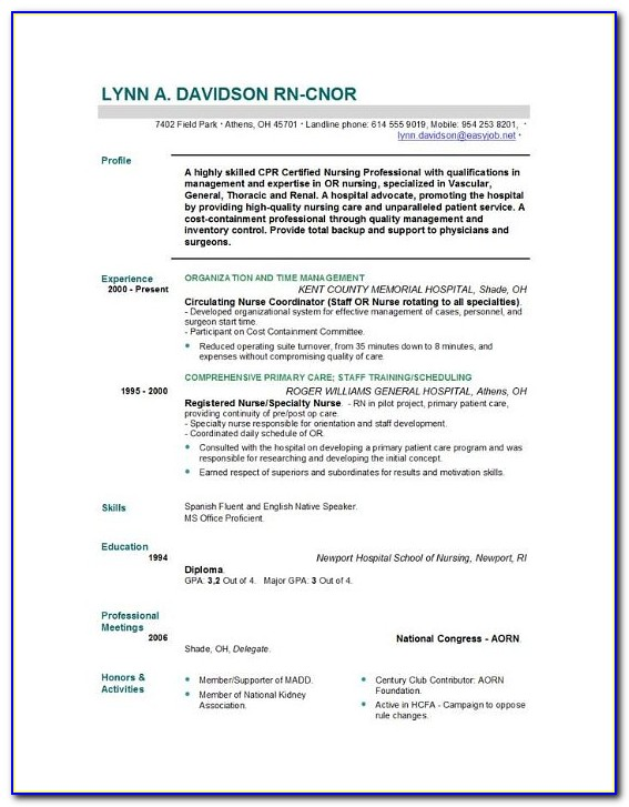 Nurse Practitioner Resumes Templates