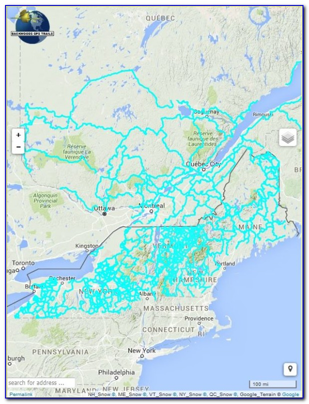 Ny Snowmobile Trail Maps Gps
