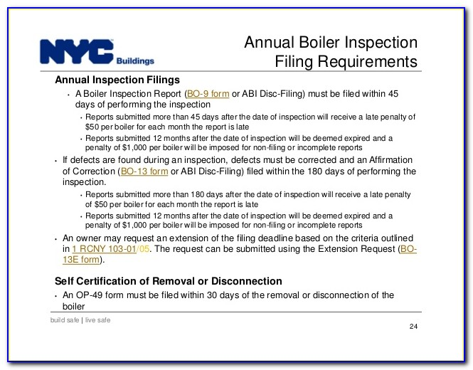Nyc Boiler Inspection Form