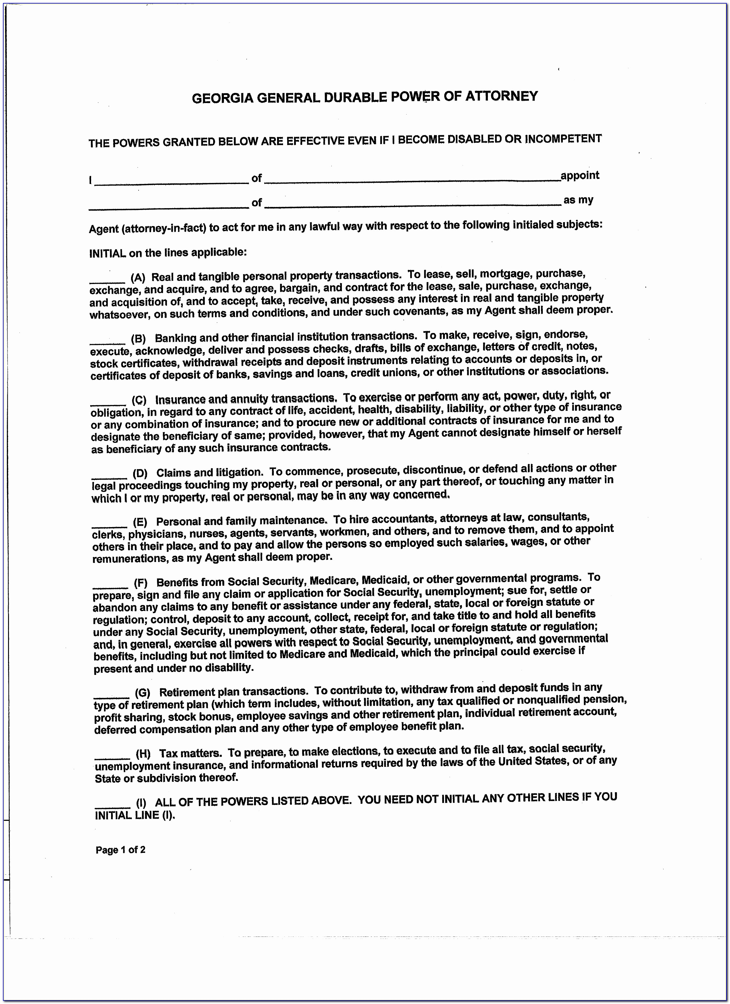 Durable Power Of Attorney Template Best Of Oklahoma Power Attorney Form Best Free Kansas General Durable
