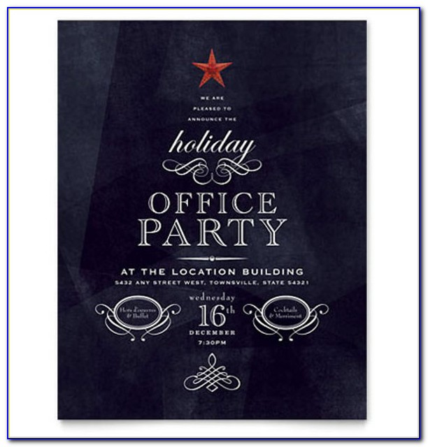 Office Christmas Party Flyer Templates