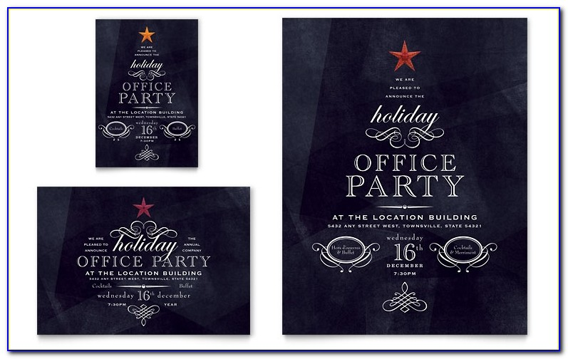 Office Holiday Party Flyer Ad Template Word Publisher Staff Christmas Party Invitation Templates Staff Christmas Party Invitation Templates