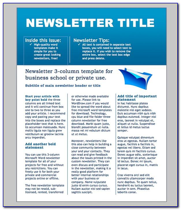 Office Newsletter Template